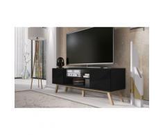 Mobile porta TV Vero Wood - nero opaco/nero lucido