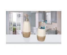 Dispenser per sapone 590 ml, bicchiere portaspazzolini