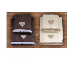 2 set di 2 asciugamani - Panna/Glacé