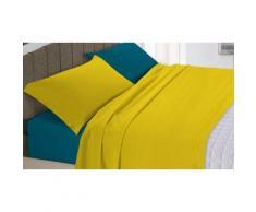 Completi letto Natural Color : Ocra-Verde petrolio / Singolo