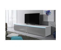 Mobile TV Luv doppio - Bianco/Grigio lucido