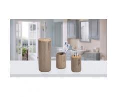 Kit di oggetti per il bagno Wenko: Portascopino, distributore, contentiore e bicchiere Palo