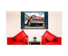 Adesivo 3D a forma di finestra: VNTII.119 - Auto rossa