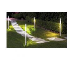 Set 2 lampioncini da giardino energia solare 70 cm