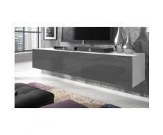 Mobile TV Rocco - Modello grande 160 x 40 x 34 cm - Bianco/Grigio
