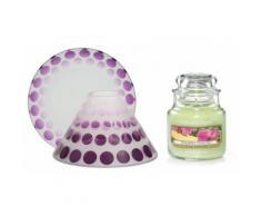 Candela, paralume e piccolo vassoio: Purple Scroll e Pineapple Cilantro