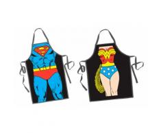 2x Grembiule Superman/Wonder Woman
