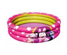 91060 Piscina gonfiabile Minnie 102x25 cm tre anelli rosa Bestway