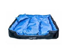 Cuccia letto poltrona XL per cane 90 x 70 cm Blu