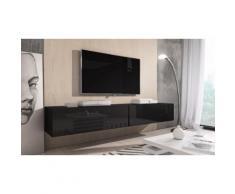 Mobile porta TV Rocco Nero 200cm (2x100cm)