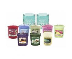 Candele e portacandele Yankee Candle: 2 candele Cote d'Azur Sandblast Votive Holders e 8 Classic Votives