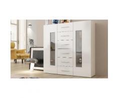 Credenza Daiquiri: 121 x 40,6 x 119 cm / Bianco laccato