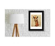 Poster con cornice - Giraffe Newspaper Animal