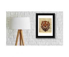 Poster con cornice - Tiger Newspaper Animal