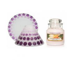 Candela, paralume e piccolo vassoio: Purple Scroll e Champaca Blossom
