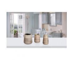 Kit di oggetti per il bagno Wenko: Distributore, bicchiere e scopino Pottery