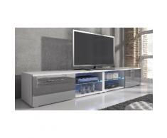 Mobile porta TV Samuel - 240 cm - Bianco/Grigio