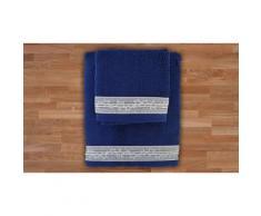 1x Set di 2 asciugamani in spugna - Bluette