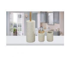Kit di oggetti per il bagno Wenko: Distributore, bicchiere e scopino Vico