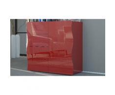 Cassettiera Onda : Rosso