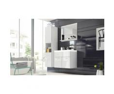 Set di mobili da bagno Selsey: Bianco-bianco lucido