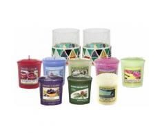 Candele e portacandele Yankee Candle: 2 candele Corsica Mosaic Votive Holders e 8 Yankee Classic Votives