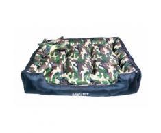 Cuccia letto poltrona XXL per cane 120 x 90 cm Camouflage