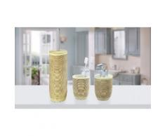 Kit di oggetti per il bagno Wenko: Distributore, bicchiere e scopino Amphore