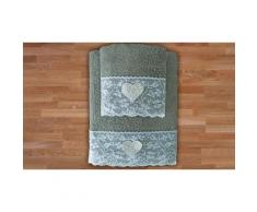 Set 2 asciugamani in spugna: Fango