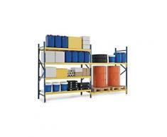 Copriripiano in metallo 150x60cm per scaffalatura industriale portata 500 Kg