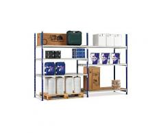 Ripiani addizionali in metallo per scaffalatura regolabile portata 300 kg profondità 80cm