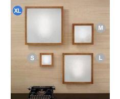 linea light Lampada Frame legno e metallo XL - Ciliegio