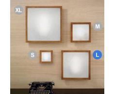 linea light Lampada Frame legno e metallo L - Ciliegio
