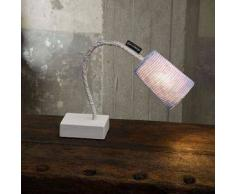 ines artdesign Lampada da lettura Paint T Stripe - Stripe Giallo/Bianco