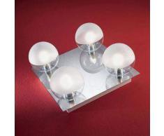 linea light Plafoniera o applique per bagno Boll 4 luci - Cromo
