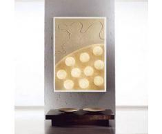 ines artdesign Quadro luce Ten moons - Cornice bianca