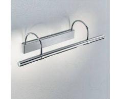 linea light Applique a muro Bagno Flue L - Nichel satinato