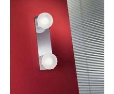 linea light Plafoniera e applique per il bagno Boll - Argento